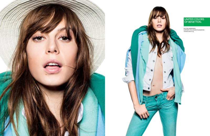 Alek Wek, Charlotte Free, Lea T. and Elettra Wiedemann Front United Colors of Benetton's Spring 2013 Campaign