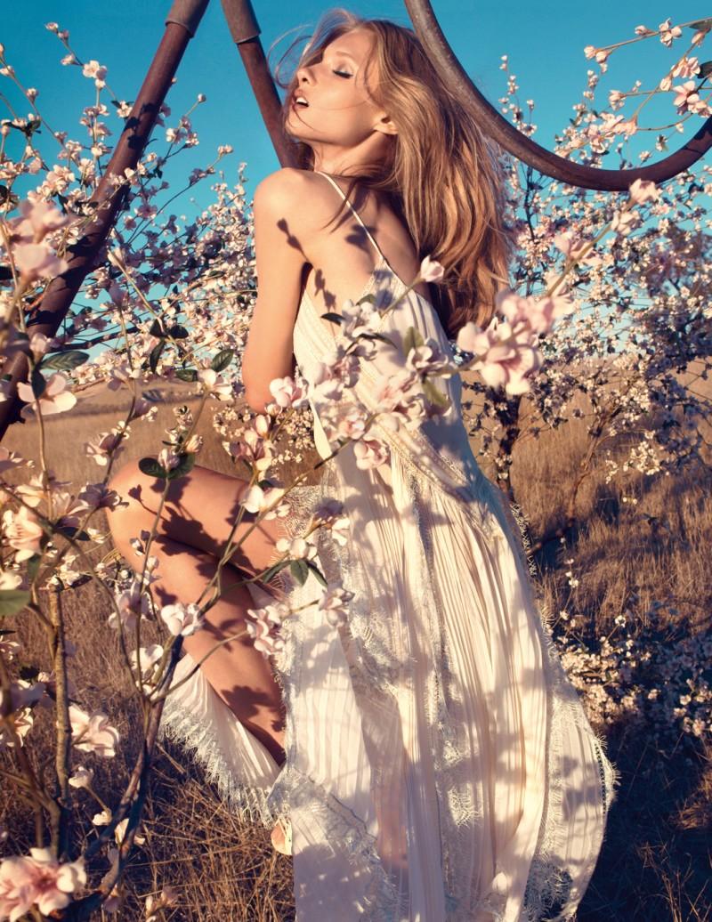 Anna Selezneva Stuns in Blumarine's Spring 2013 Campaign by Camilla Akrans