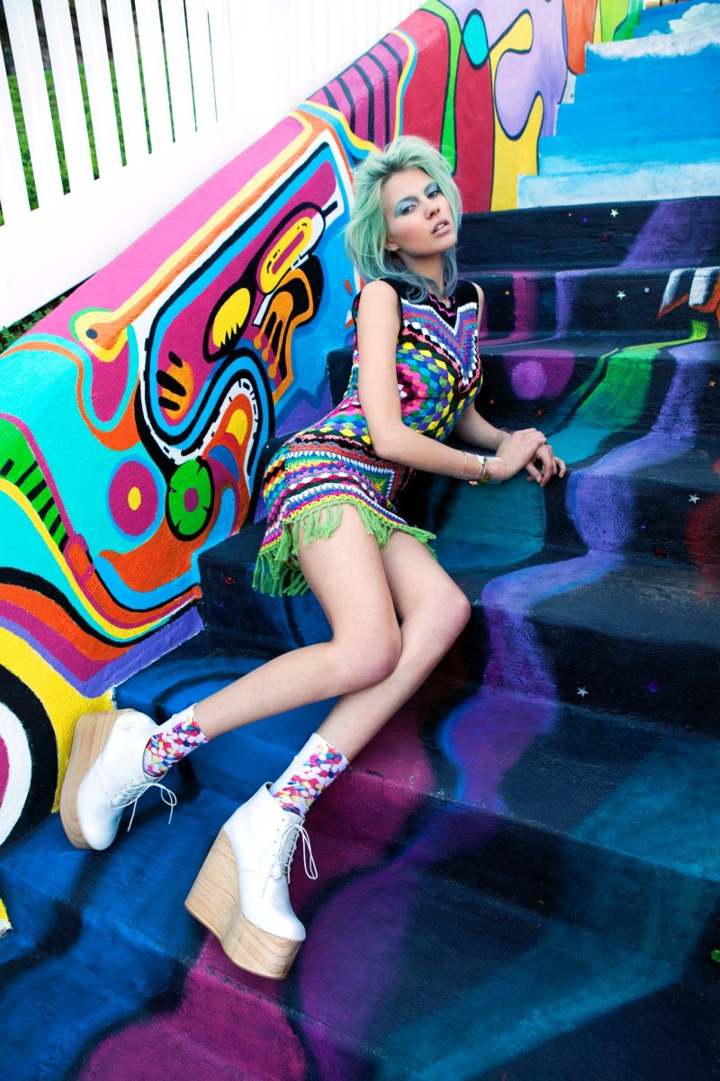 BrittMaren26 Britt Maren Rocks Psychedelic Style for Nasty Gals January 2013 Lookbook