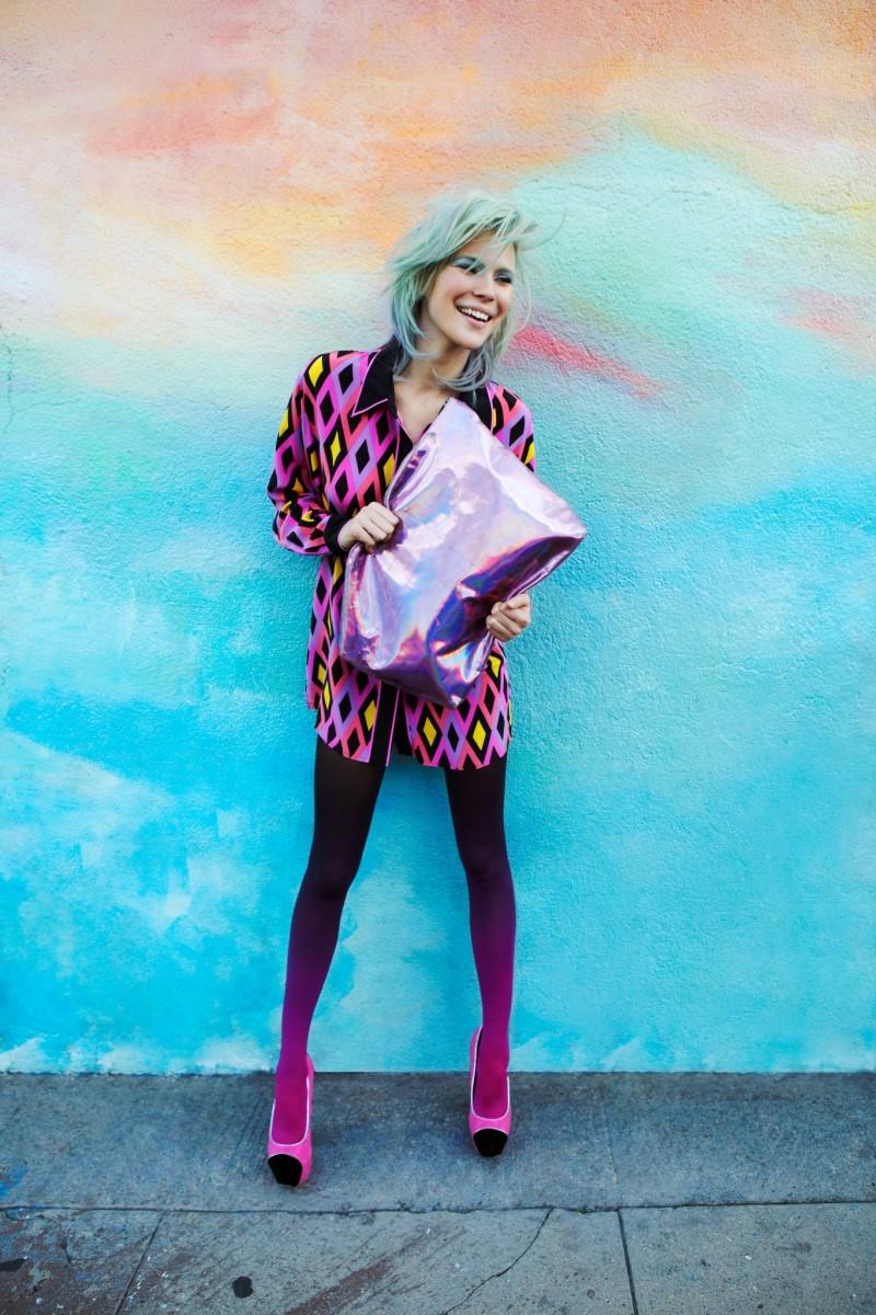 Britt Maren Rocks Psychedelic Style for Nasty Gal's January 2013 Lookbook
