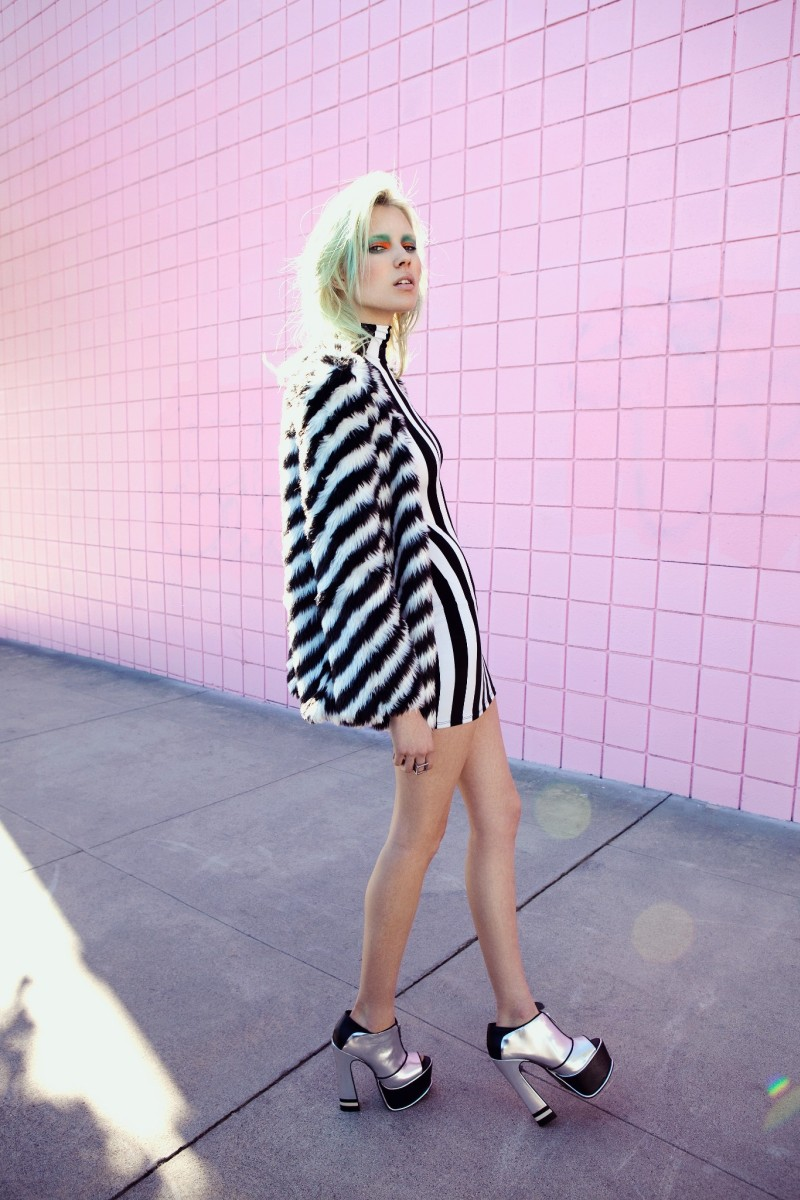 Britt Maren Rocks Psychedelic Style for Nasty Gal's January 2013 Lookbook