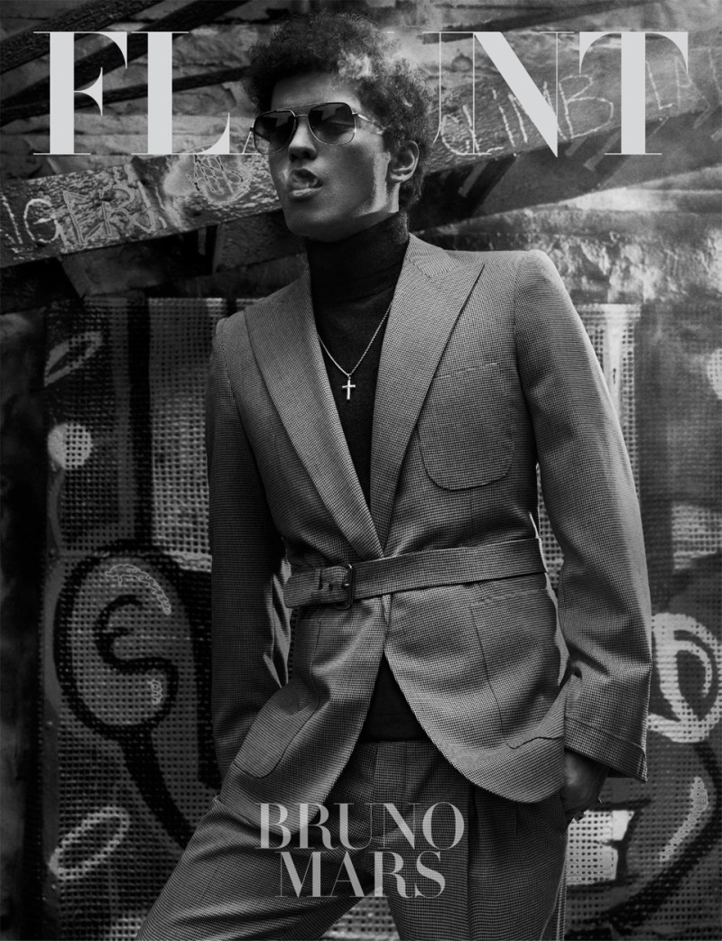 BrunoAjak10 Ajak Deng Gets Up Close with Bruno Mars for Flaunt Magazine by Hunter & Gatti