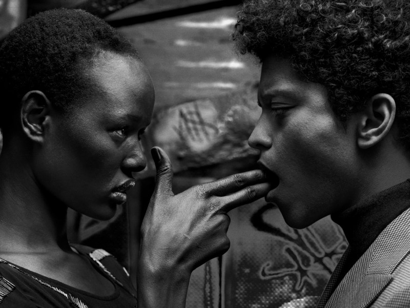 BrunoAjak3 Ajak Deng Gets Up Close with Bruno Mars for Flaunt Magazine by Hunter & Gatti