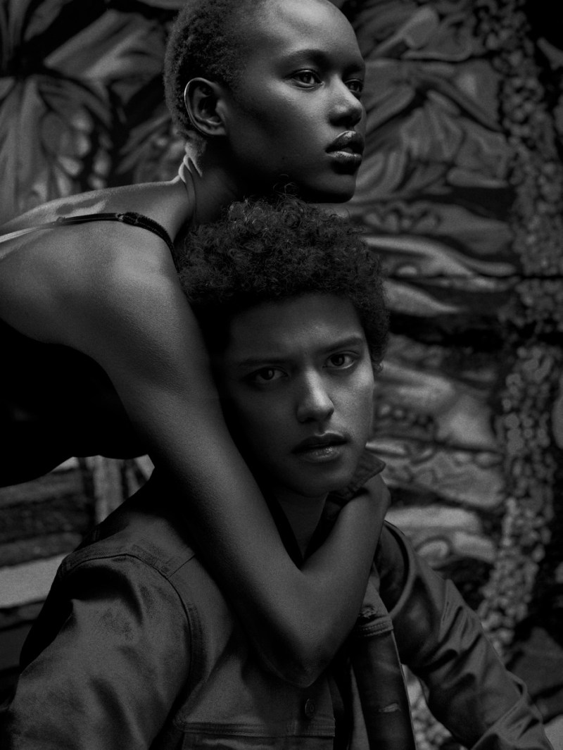BrunoAjak4 Ajak Deng Gets Up Close with Bruno Mars for Flaunt Magazine by Hunter & Gatti