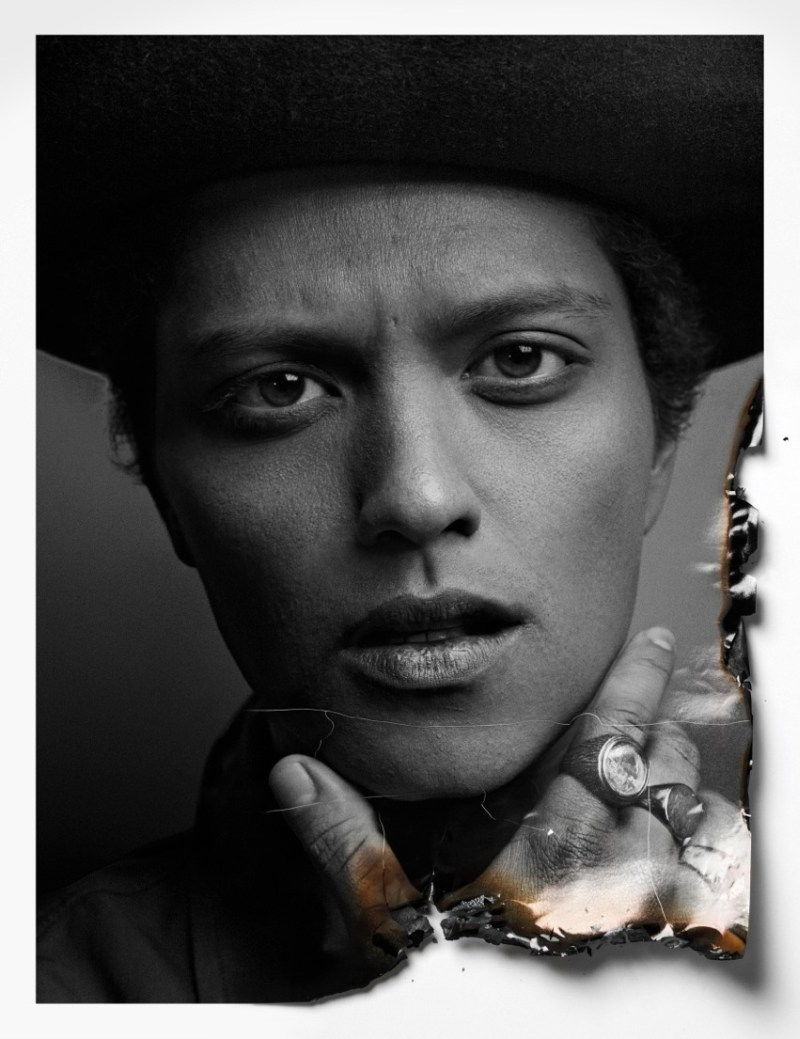 BrunoAjak9 Ajak Deng Gets Up Close with Bruno Mars for Flaunt Magazine by Hunter & Gatti