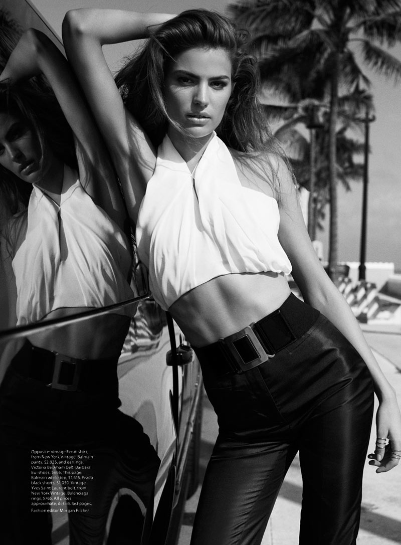 """Cameron Russell Has """"Miami Heat"""" for Vogue Australia February 2013 by Benny Horne"""