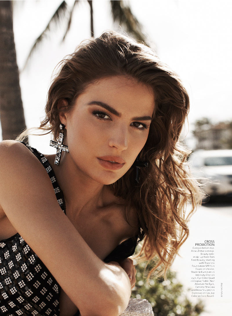 CameronRussell3 Cameron Russell Has Miami Heat for Vogue Australia February 2013 by Benny Horne