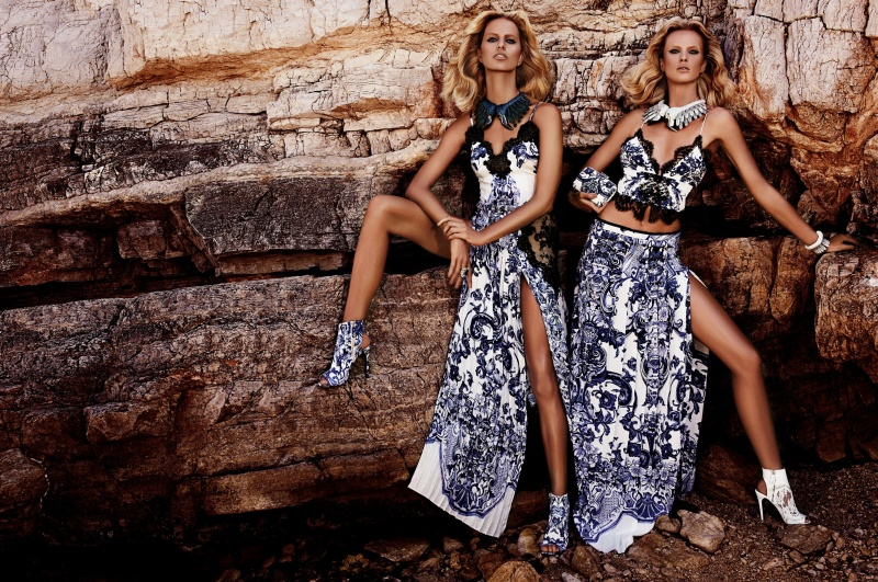 CavalliResort1 Roberto Cavalli Takes Anne Vyalitsyna and Karolina Kurkova to Cannes for its Resort 2013 Campaign
