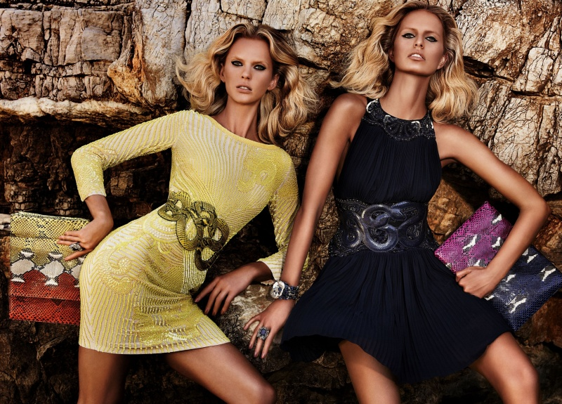 CavalliResort2 Roberto Cavalli Takes Anne Vyalitsyna and Karolina Kurkova to Cannes for its Resort 2013 Campaign