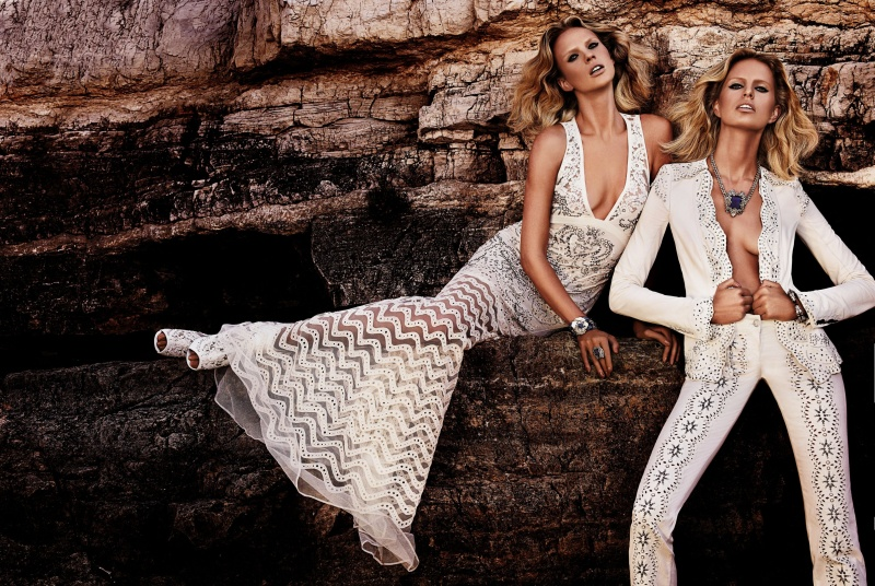 CavalliResort3 Roberto Cavalli Takes Anne Vyalitsyna and Karolina Kurkova to Cannes for its Resort 2013 Campaign