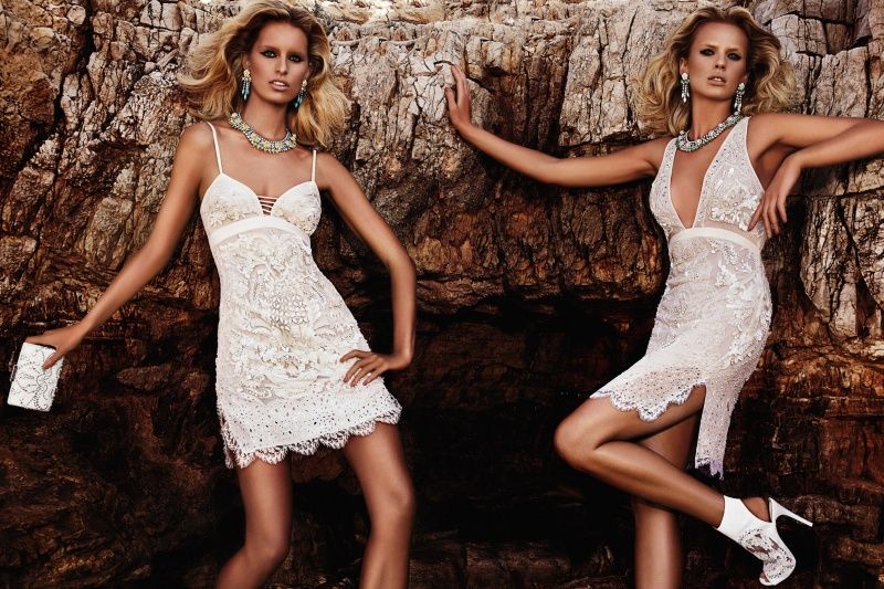 CavalliResort4 Roberto Cavalli Takes Anne Vyalitsyna and Karolina Kurkova to Cannes for its Resort 2013 Campaign