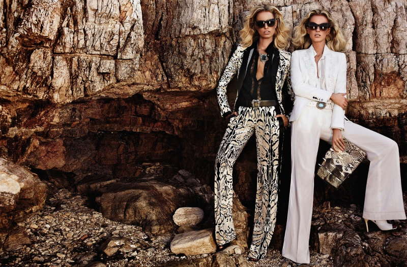 CavalliResort5 Roberto Cavalli Takes Anne Vyalitsyna and Karolina Kurkova to Cannes for its Resort 2013 Campaign