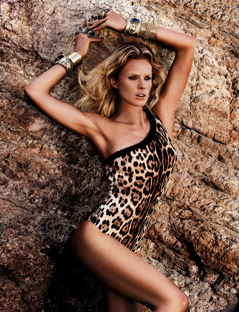 CavalliResort6 Roberto Cavalli Takes Anne Vyalitsyna and Karolina Kurkova to Cannes for its Resort 2013 Campaign