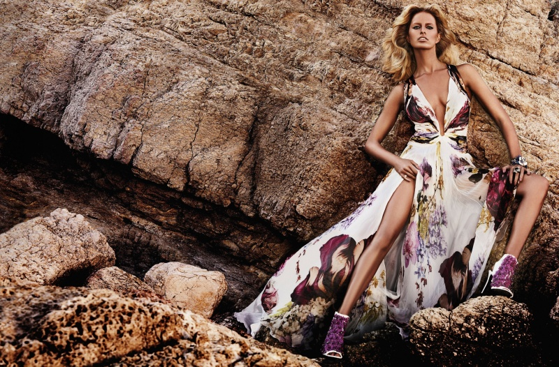 CavalliResort7 Roberto Cavalli Takes Anne Vyalitsyna and Karolina Kurkova to Cannes for its Resort 2013 Campaign