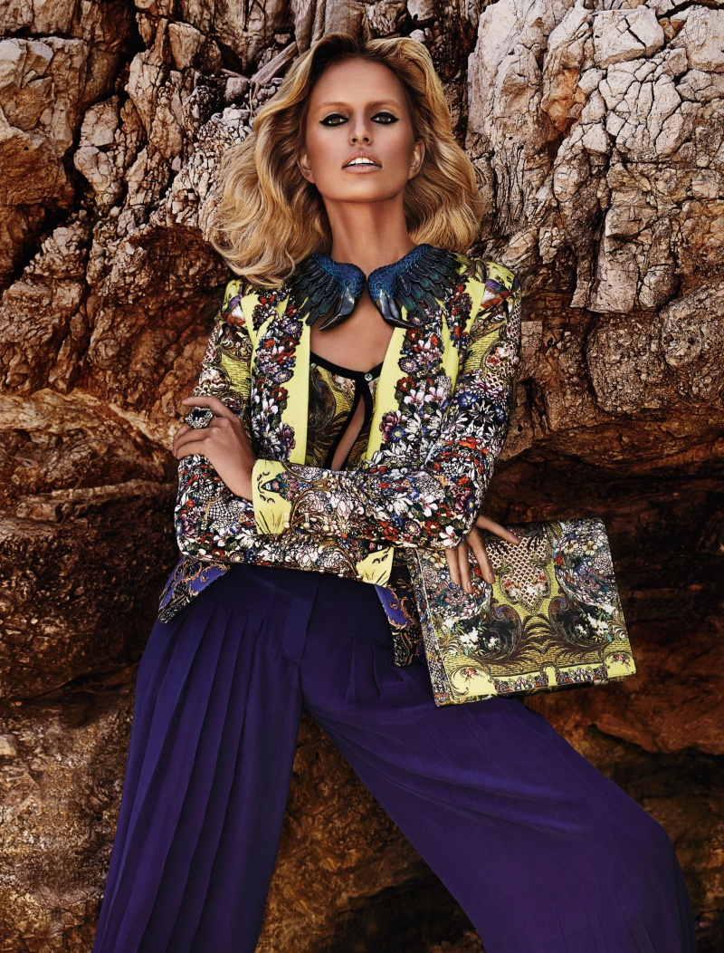 CavalliResort8 Roberto Cavalli Takes Anne Vyalitsyna and Karolina Kurkova to Cannes for its Resort 2013 Campaign