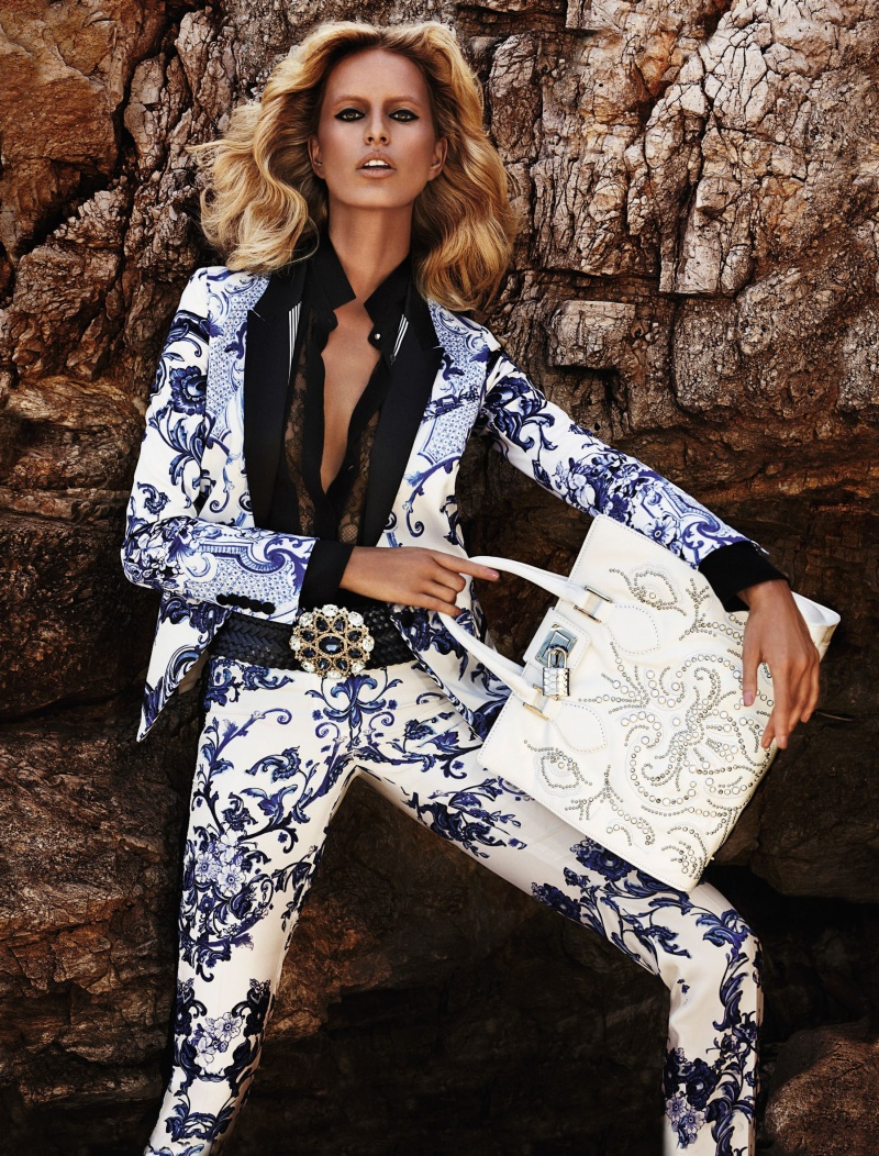 CavalliResort9 Roberto Cavalli Takes Anne Vyalitsyna and Karolina Kurkova to Cannes for its Resort 2013 Campaign