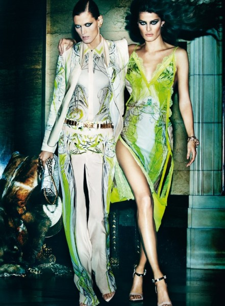 Roberto Cavalli Enlists Isabeli Fontana, Malgosia Bela and Sui He for its Spring 2013 Campaign by Mario Testino