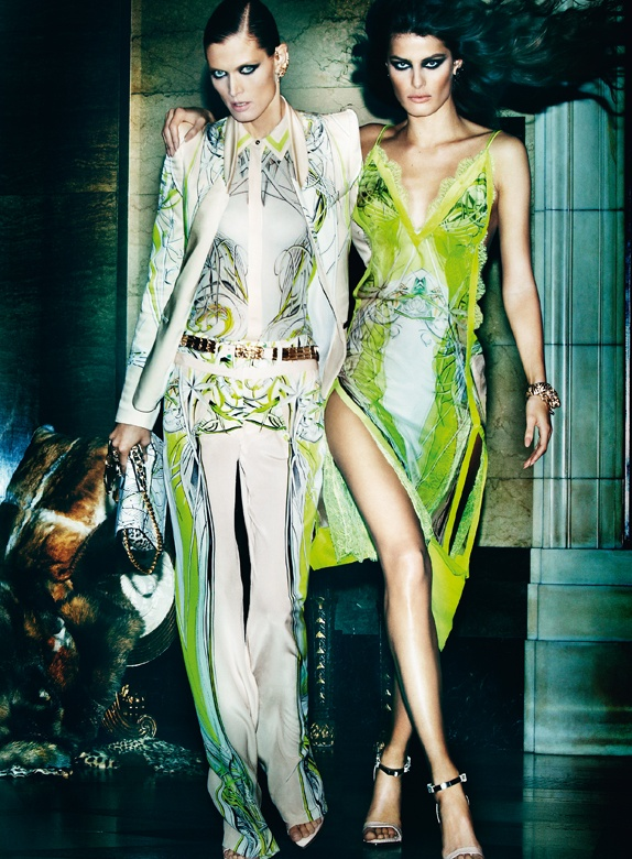 CavalliSpring1 Roberto Cavalli Enlists Isabeli Fontana, Malgosia Bela and Sui He for its Spring 2013 Campaign by Mario Testino