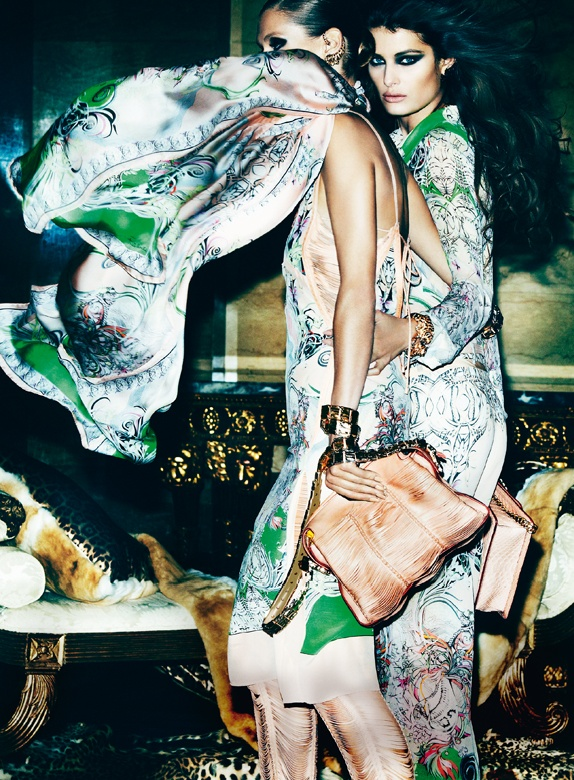 CavalliSpring3 Roberto Cavalli Enlists Isabeli Fontana, Malgosia Bela and Sui He for its Spring 2013 Campaign by Mario Testino