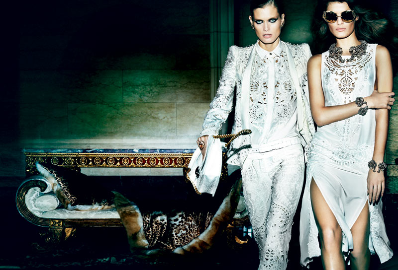 CavalliSpring4 Roberto Cavalli Enlists Isabeli Fontana, Malgosia Bela and Sui He for its Spring 2013 Campaign by Mario Testino