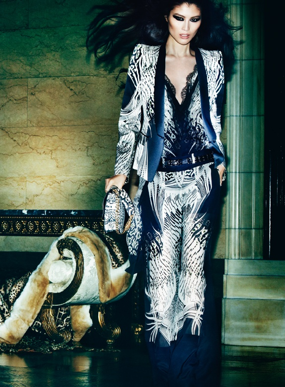 CavalliSpring5 Roberto Cavalli Enlists Isabeli Fontana, Malgosia Bela and Sui He for its Spring 2013 Campaign by Mario Testino