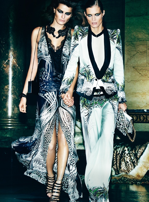 CavalliSpring6 Roberto Cavalli Enlists Isabeli Fontana, Malgosia Bela and Sui He for its Spring 2013 Campaign by Mario Testino