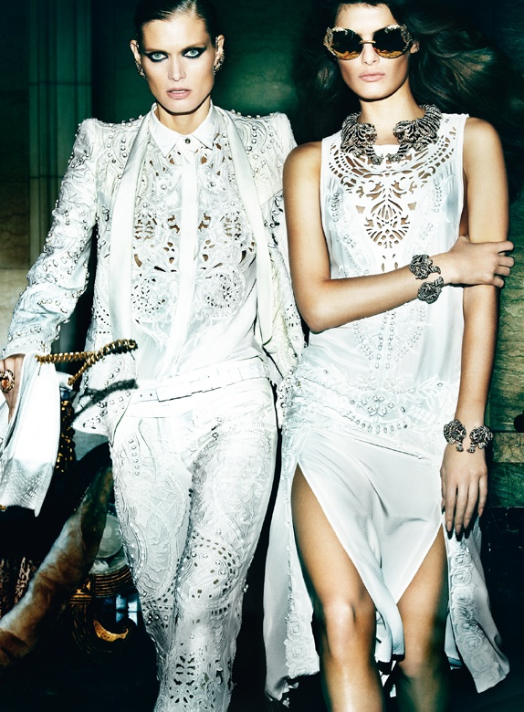 CavalliSpring8 Roberto Cavalli Enlists Isabeli Fontana, Malgosia Bela and Sui He for its Spring 2013 Campaign by Mario Testino