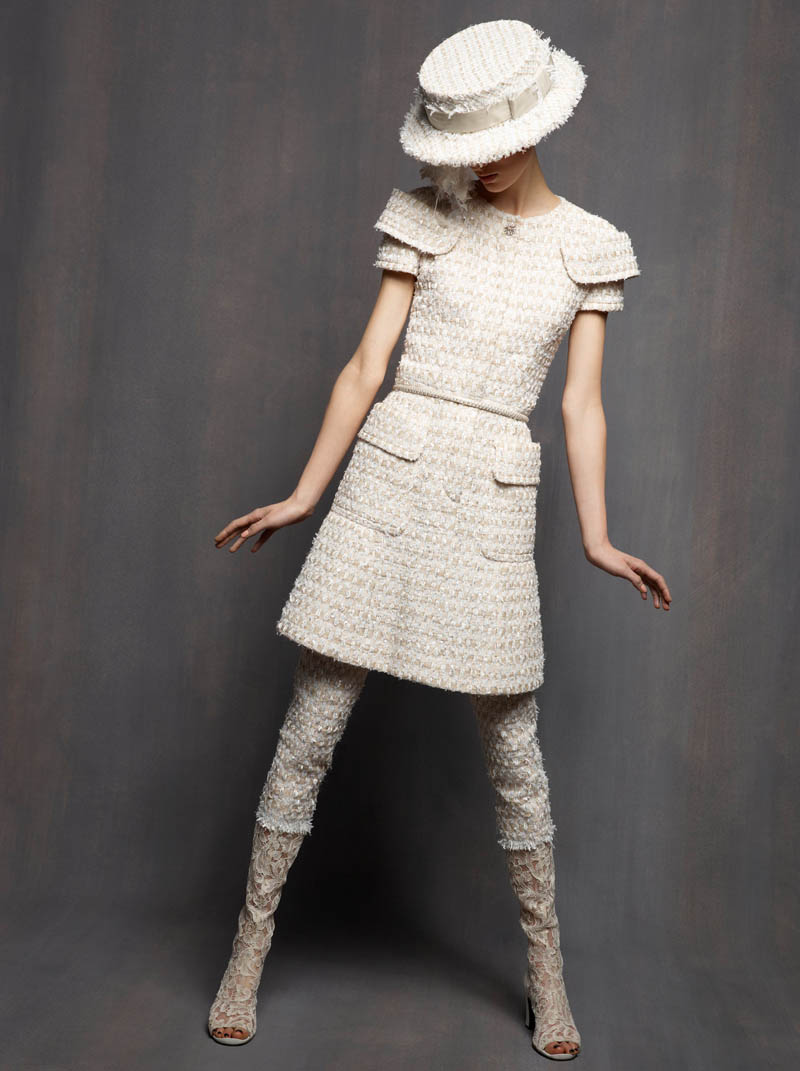 ChanelHC2 Karl Lagerfeld Shoots Marte Mei Van Haaster in Chanel Haute Couture Spring 2013