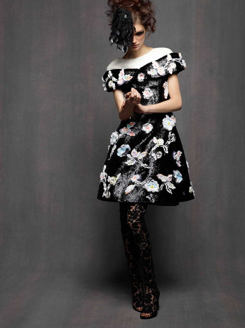 ChanelHC6 Karl Lagerfeld Shoots Marte Mei Van Haaster in Chanel Haute Couture Spring 2013