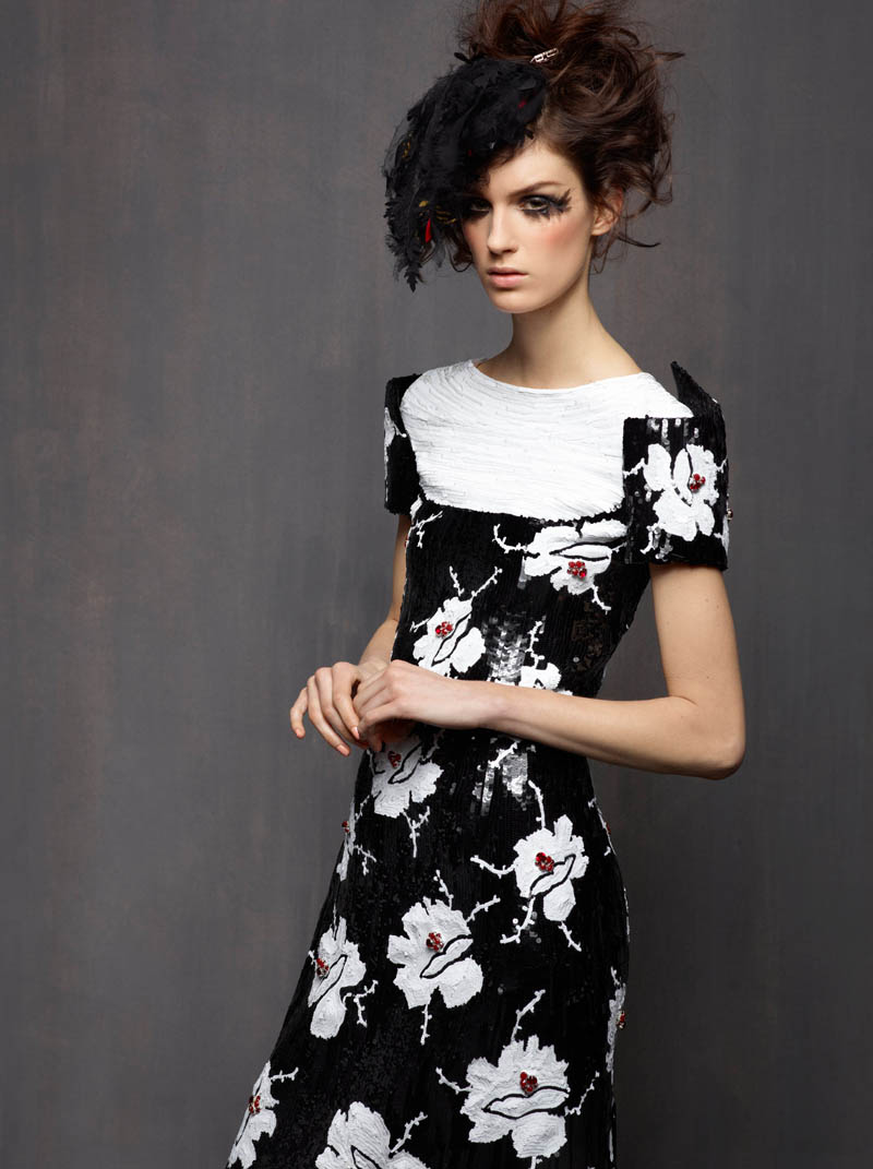 ChanelHC7 Karl Lagerfeld Shoots Marte Mei Van Haaster in Chanel Haute Couture Spring 2013
