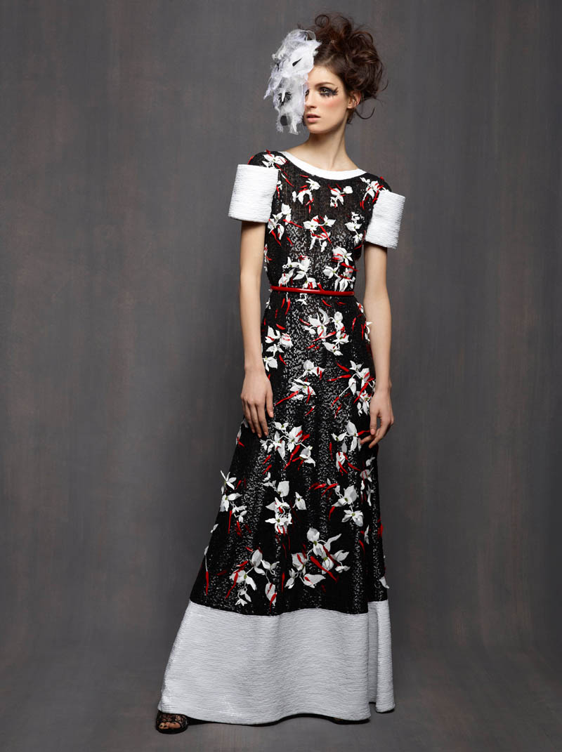 ChanelHC8 Karl Lagerfeld Shoots Marte Mei Van Haaster in Chanel Haute Couture Spring 2013