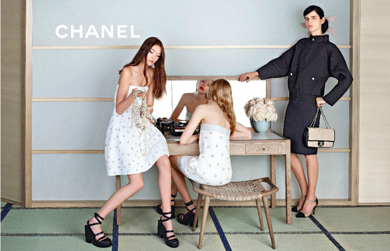 ChanelSpring1 Chanel Looks East for its Spring 2013 Campaign Starring Stella Tennant, Ondria Hardin and Yumi Lambert
