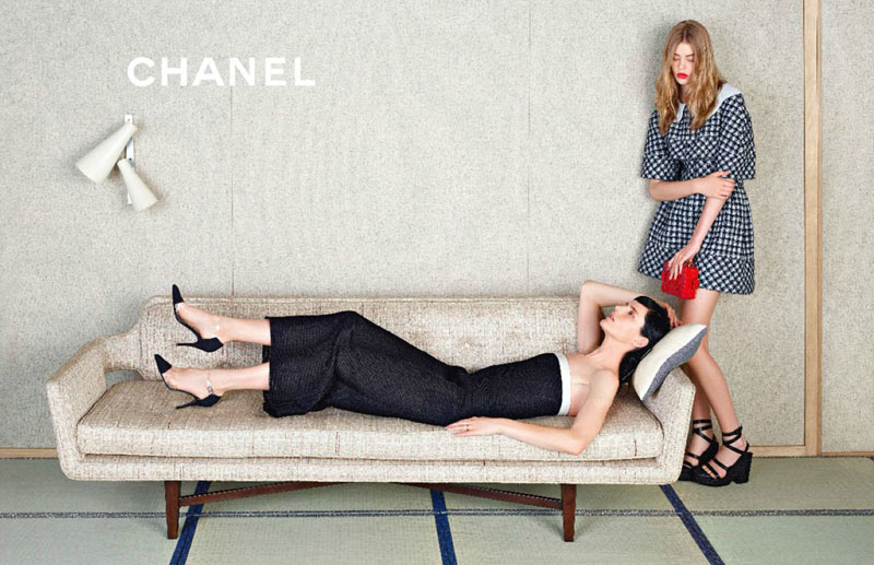 ChanelSpring2 Chanel Looks East for its Spring 2013 Campaign Starring Stella Tennant, Ondria Hardin and Yumi Lambert