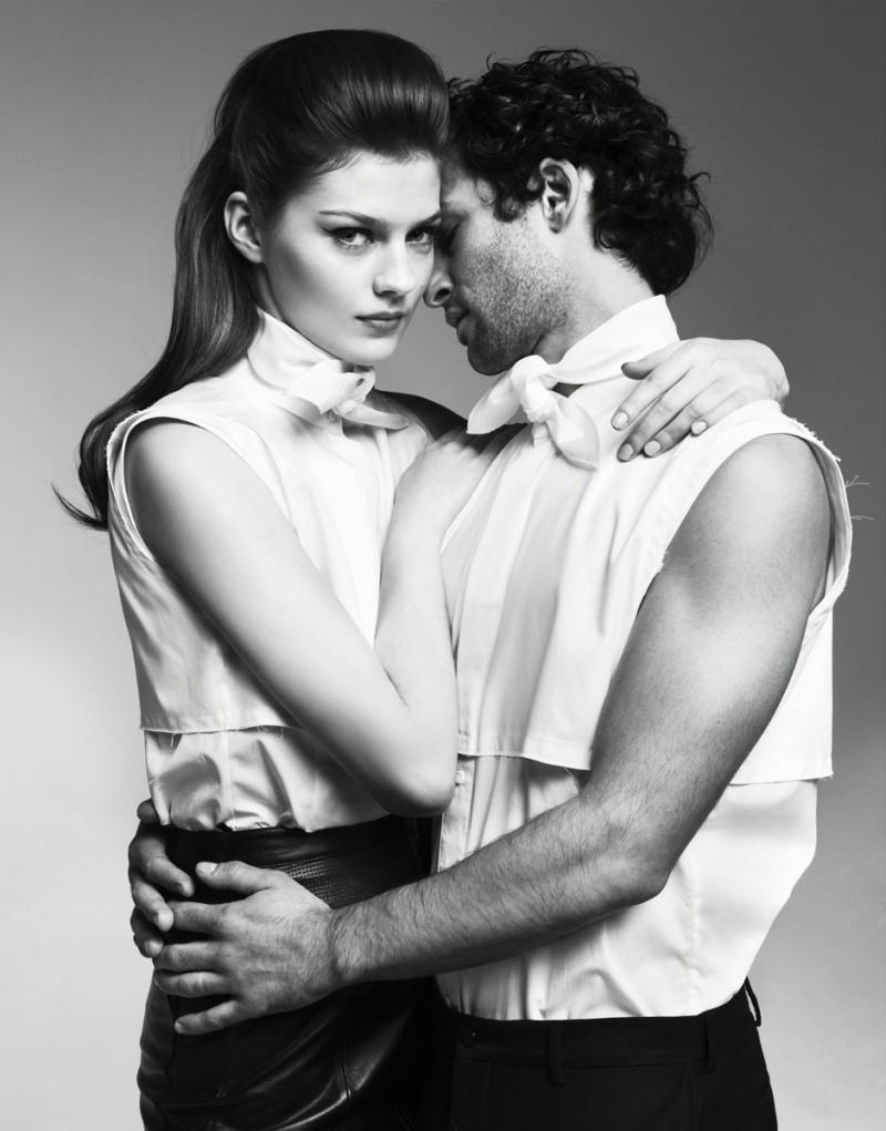 Amber Anderson and Nicolas Cazale Get Steamy for Nikolay Biryukov in Collezioni Uomo