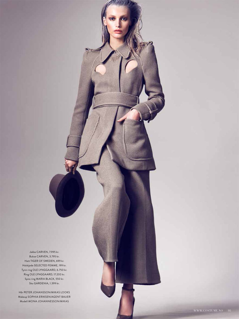 CostumeMona8 Mona Johannesson Stars in Costumes February 2013 Cover Story by Mikael Schulz