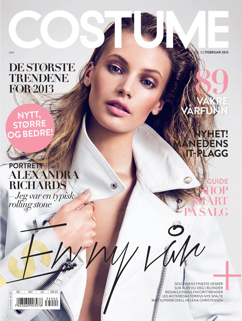 Mona Johannesson Stars in Costume's February 2013 Cover Story by Mikael Schulz