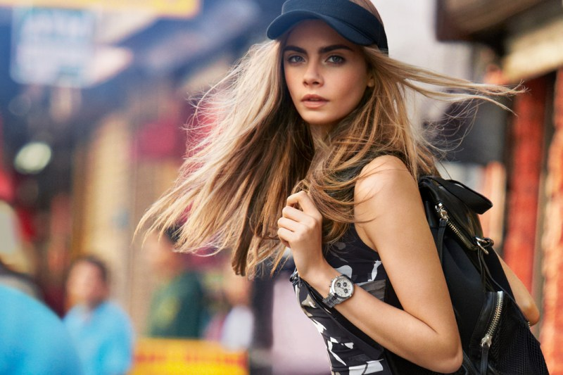 Cara Delevingne is Techno Chic for DKNY Spring 2013 Campaign by Patrick Demarchelier