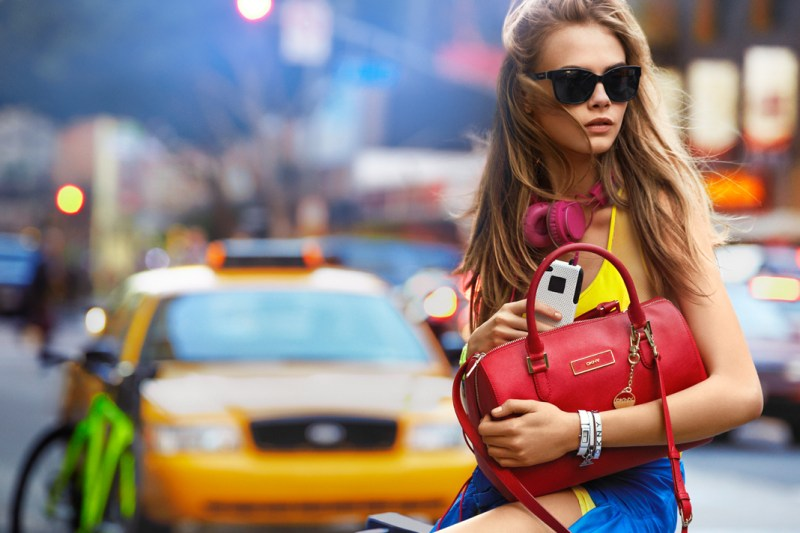 DKNYSpring11 Cara Delevingne is Techno Chic for DKNY Spring 2013 Campaign by Patrick Demarchelier