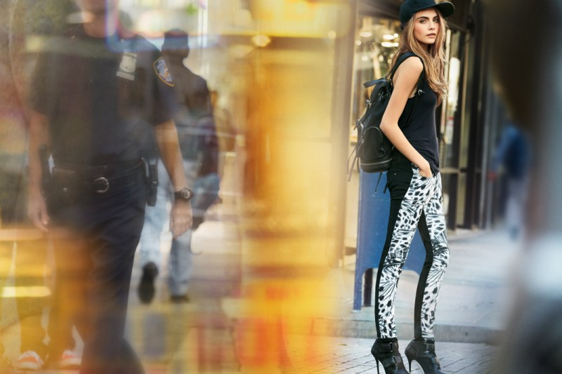 DKNYSpring16 Cara Delevingne is Techno Chic for DKNY Spring 2013 Campaign by Patrick Demarchelier