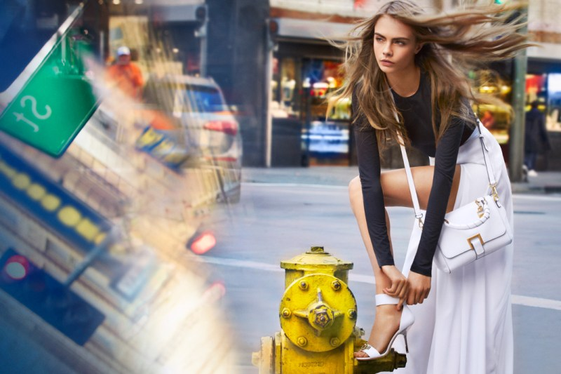 DKNYSpring4 Cara Delevingne is Techno Chic for DKNY Spring 2013 Campaign by Patrick Demarchelier