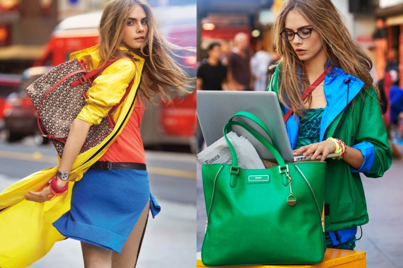 DKNYSpring5 Cara Delevingne is Techno Chic for DKNY Spring 2013 Campaign by Patrick Demarchelier