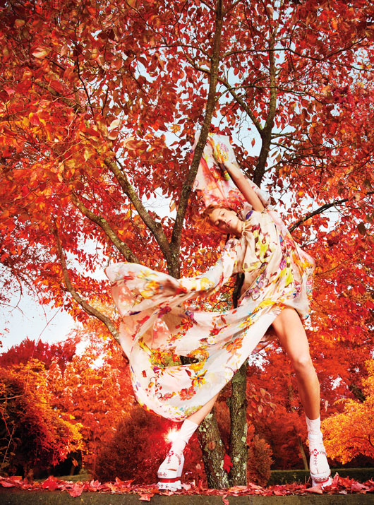 DariaEarthW5 Daria Werbowy is Heaven on Earth for W Magazines January Issue by Ryan McGinley