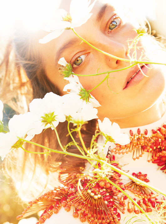 Daria Werbowy is Heaven on Earth for W Magazine's January Issue by Ryan McGinley