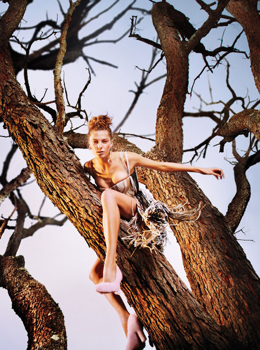 DariaEarthW7 Daria Werbowy is Heaven on Earth for W Magazines January Issue by Ryan McGinley