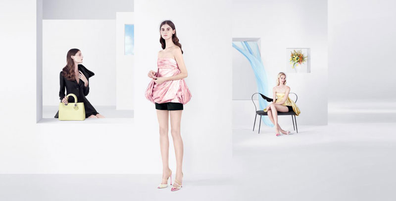 DiorSpring5 Dior Puts Daria Strokous, Daiane Conterato and Others on Display for its Spring 2013 Campaign by Willy Vanderperre