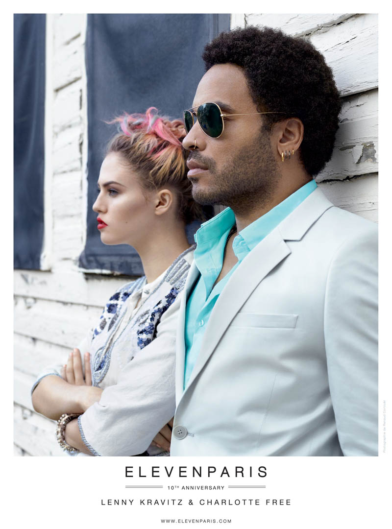 ELEVENPARIS SS13 LENNY CHARLOTTE Charlotte Free and Lenny Kravitz Front Eleven Paris Spring 2013 Campaign