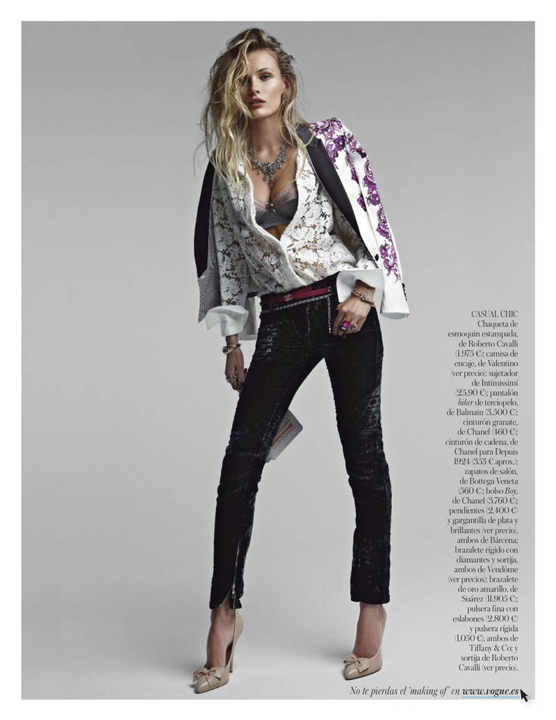 EditaDemarchelier10 Edita Vilkeviciute Poses for Patrick Demarchelier in Vogue Spains January Issue