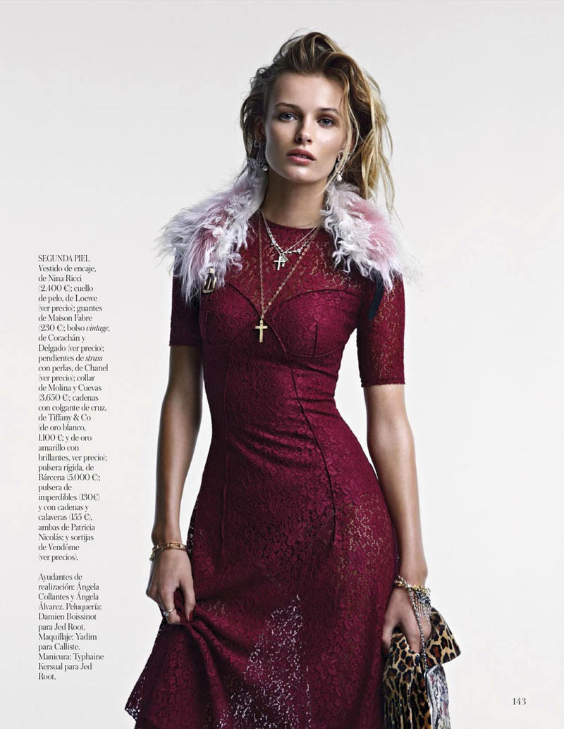 EditaDemarchelier11 Edita Vilkeviciute Poses for Patrick Demarchelier in Vogue Spains January Issue