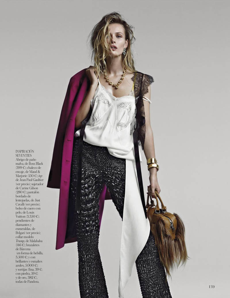 EditaDemarchelier7 Edita Vilkeviciute Poses for Patrick Demarchelier in Vogue Spains January Issue
