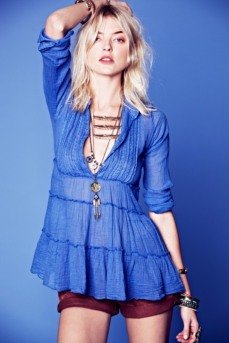 FP10 Martha Hunt Sports Flirty, Tomboy Style for Free Peoples January Lookbook